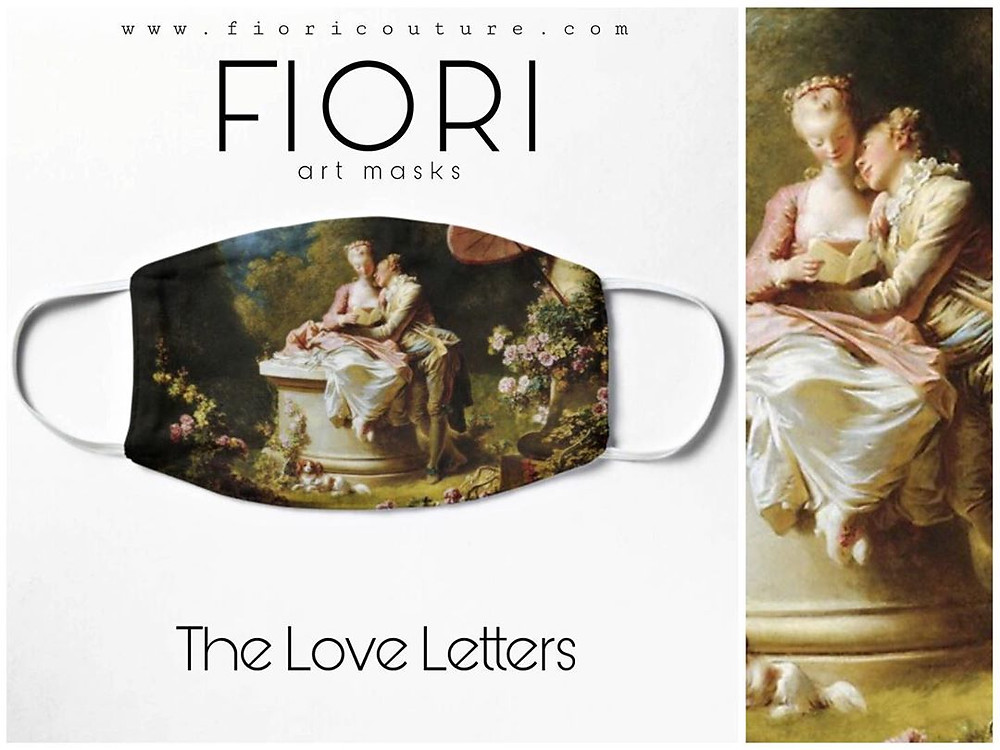 Fiori Couture, Jean Honore Fragonard, Face Masks, face covering