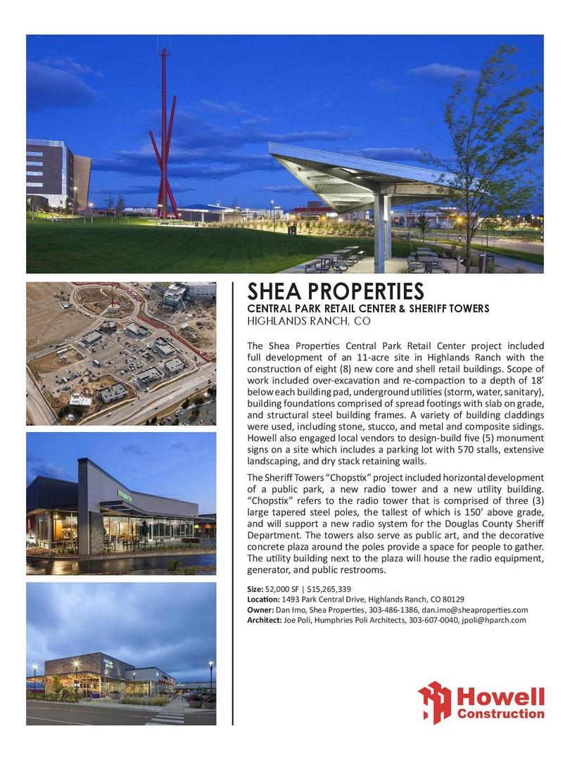 Shea Properties Central Park - Sheriffs
