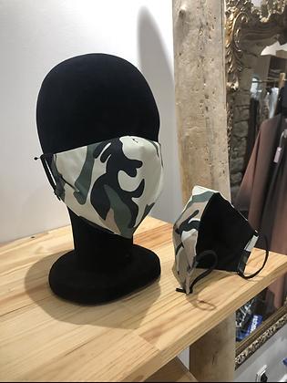 Masque tissu Camouflage kaki