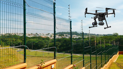 drone alambrado