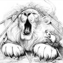 Aesops Lion and mouse