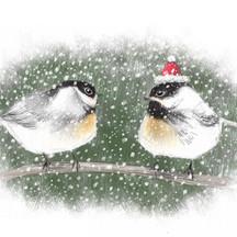Chickadees Christmas