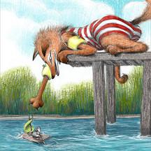 Fox on dock
