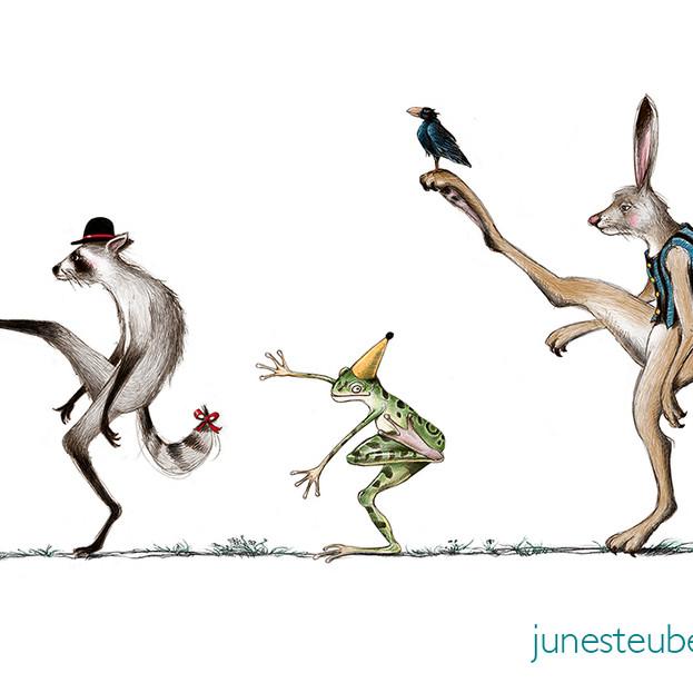 Silly Walk - Racoon Winner Applied Arts Illustration Award 1991