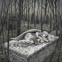 Sleeping angel and cat: 2nd Place 2019 Brightness Magazine Illustration Awards: Books catagory