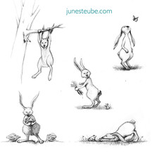 Hare's day out - sketches