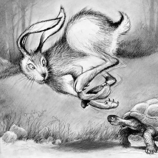Aesop's Hare and Tortoise
