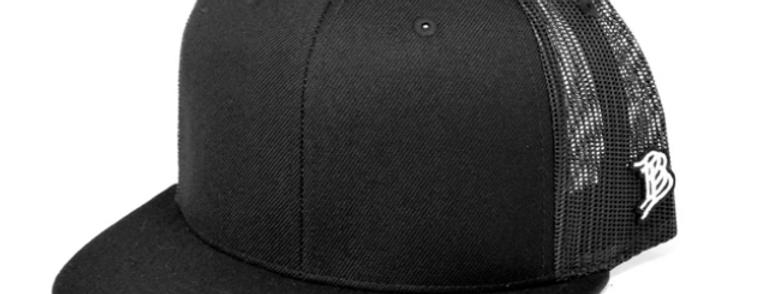 Black/Black Extract-ED Flat Bill Trucker by Branded Bills