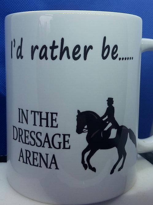 I'd rather be - dressage