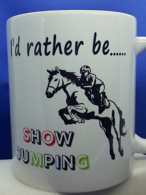 I'd rather be - show jumping