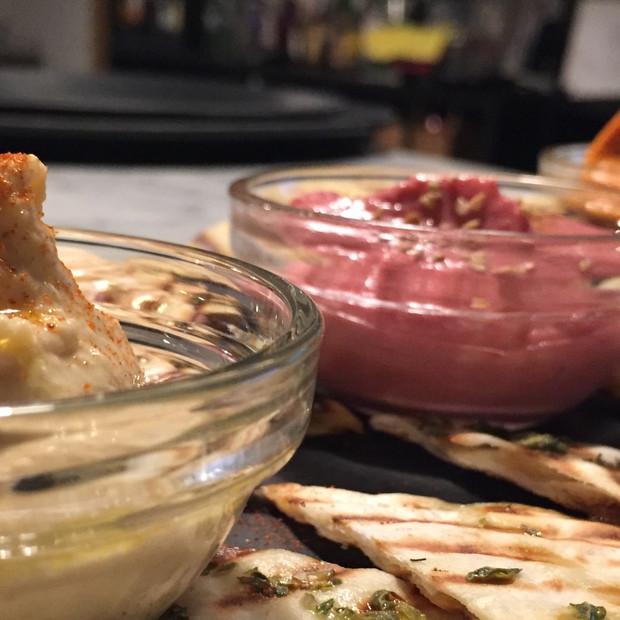 Menage a trois d'Hummus