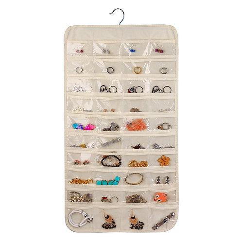 Organizador de joyería y accesorios 80 bolsillos de almacenamiento