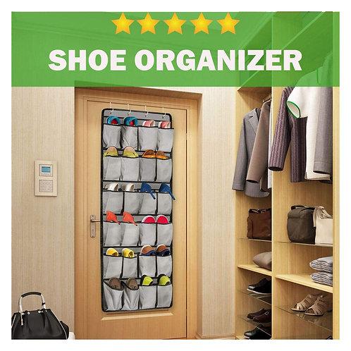 Organizador de zapatos 24 bolsillos grandes ahora con 4 ganchos personalizados