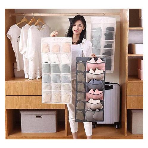 Organizador Bolsa de ropa interior 2 lados multipropósito 30 compartimentos