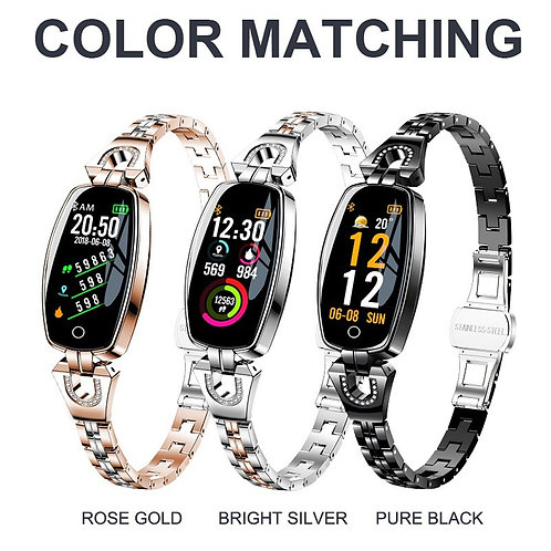 Smart Fitness Watch H8 pulsera inteligente impermeable para mujeres