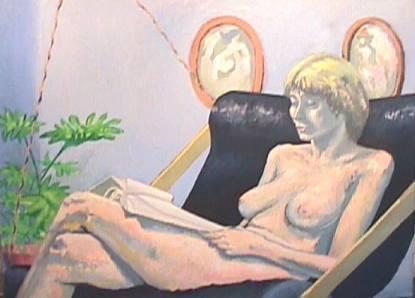 Portrait of Deb in My Studio on Tilden