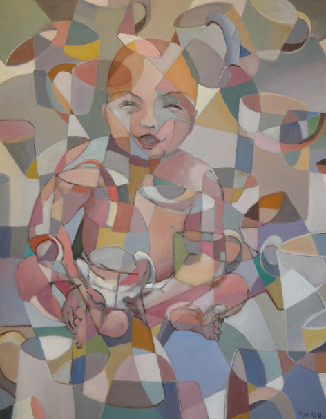 Baby With Empty Cups