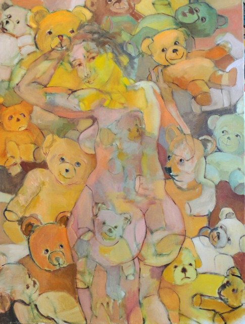 Nude with Teddy Bears