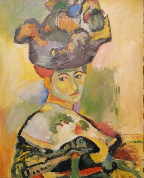 Copy of Matisse's painting Woman with Hat