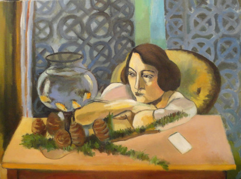 Copy of Matisse's Woman with Fish Bowl by Tom Kelly
