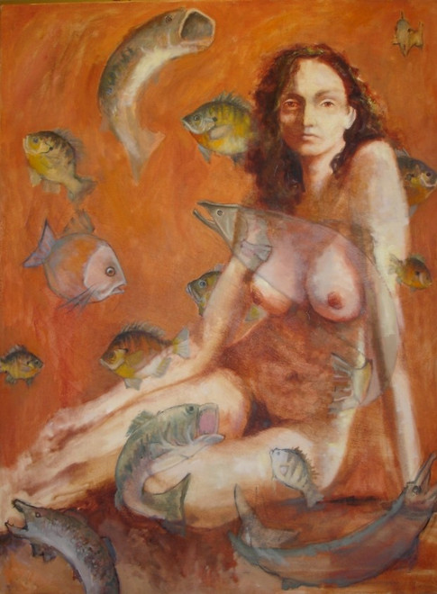 Nude with Fish