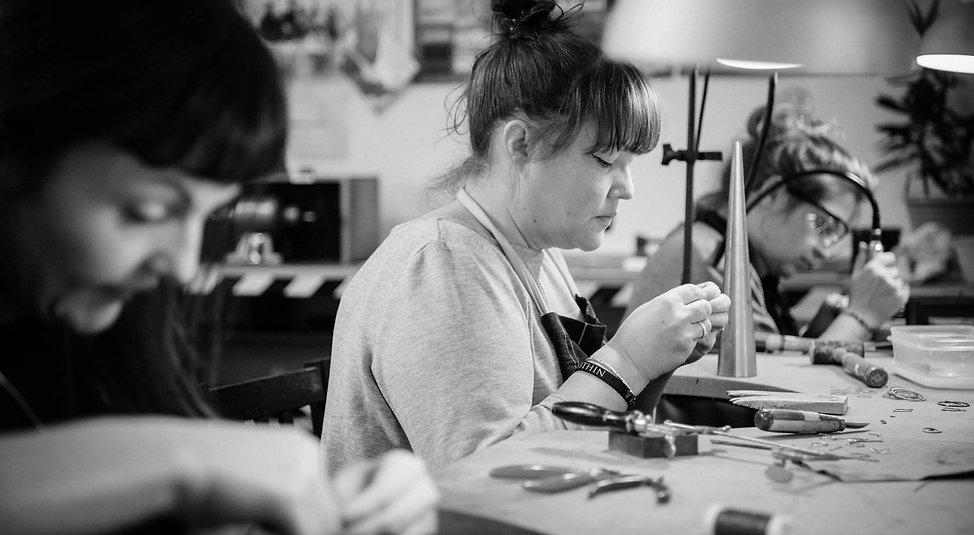 Jewellery Student in the SilverHub Studio