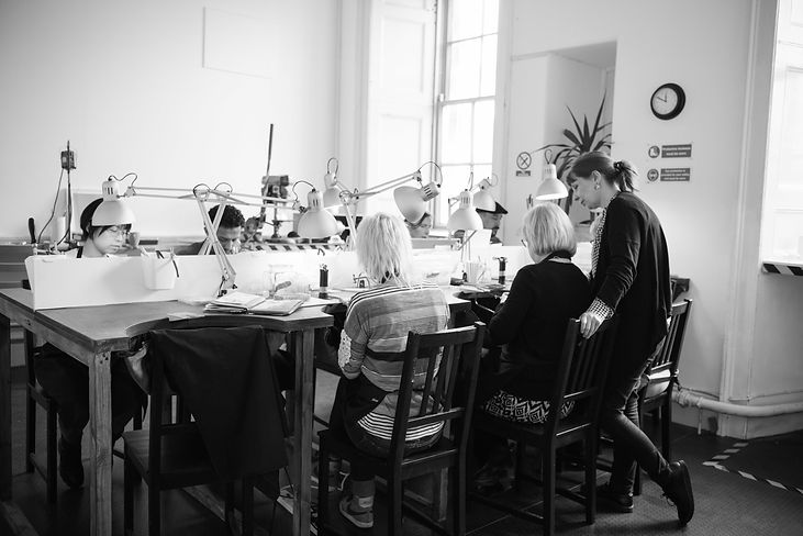 Students in the Jewellery Studio