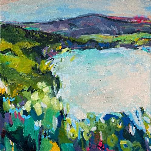 Flowers by the Loch (50 x 50cm)