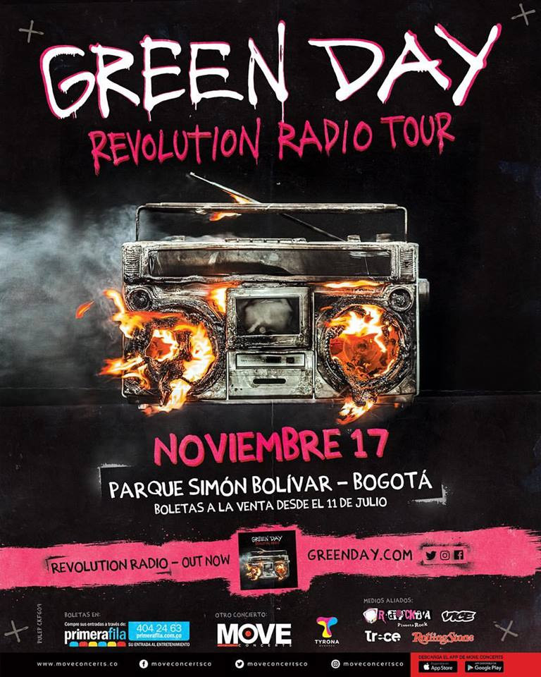 Green Day Colombia 2017
