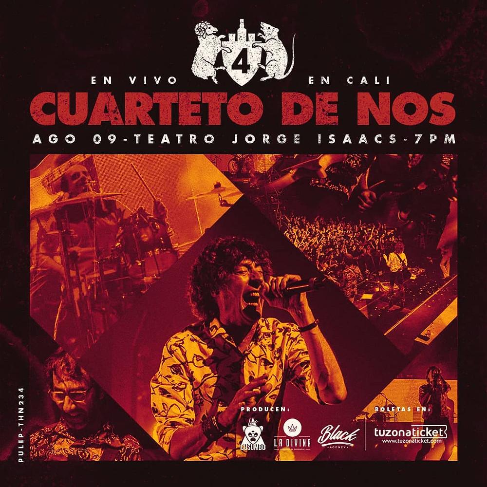 Cuarteto de Nos en Cali, Colombia 2019