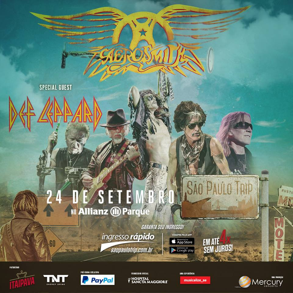 Aerosmith en Belo Horizonte Brasil 2017