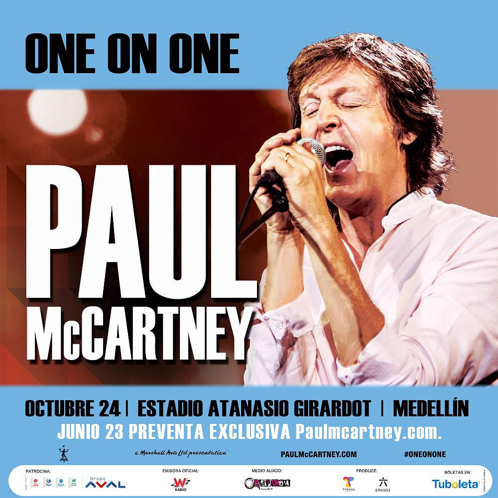 Paul McCartney en Colombia 2017