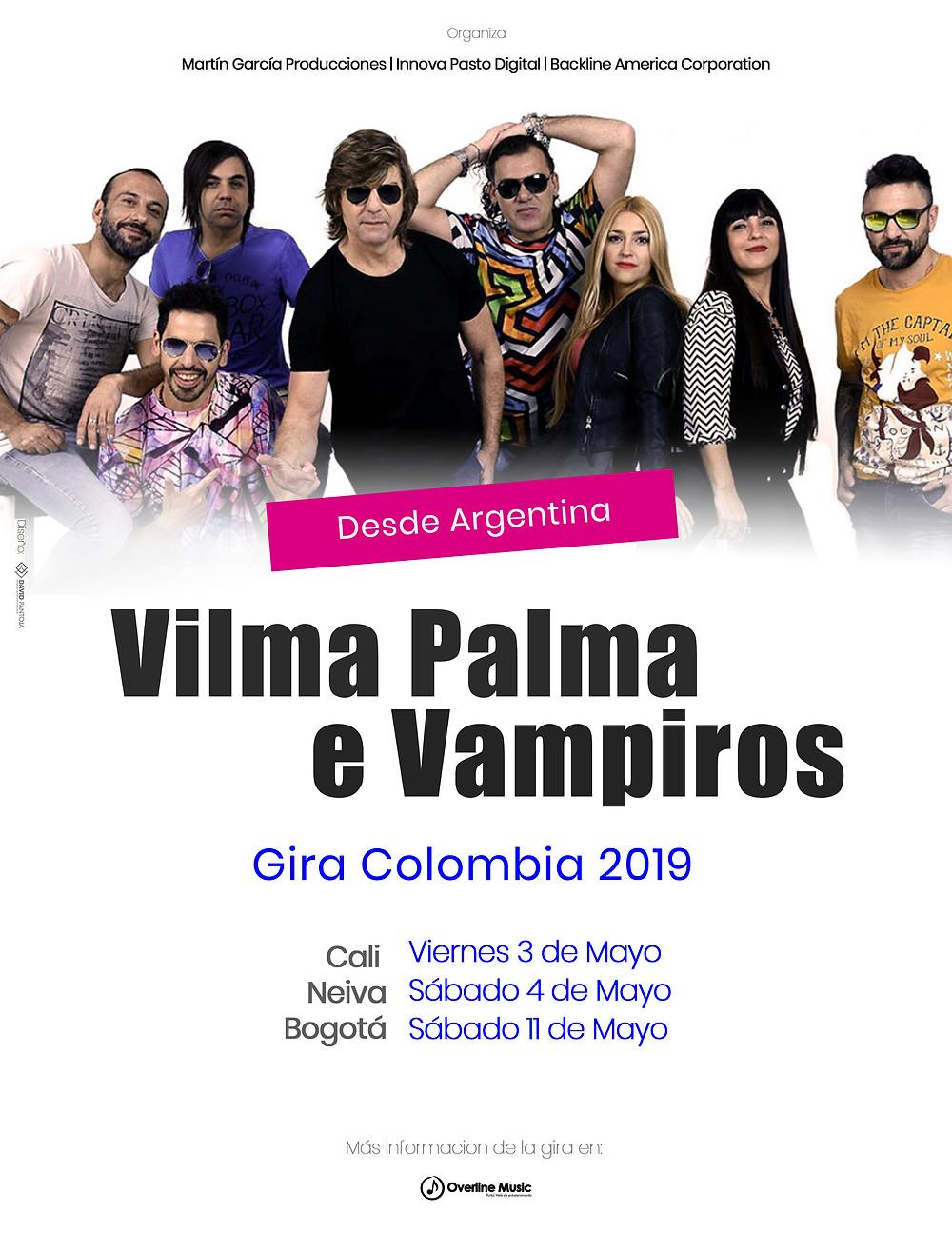Vilma Palma en Colombia 2019