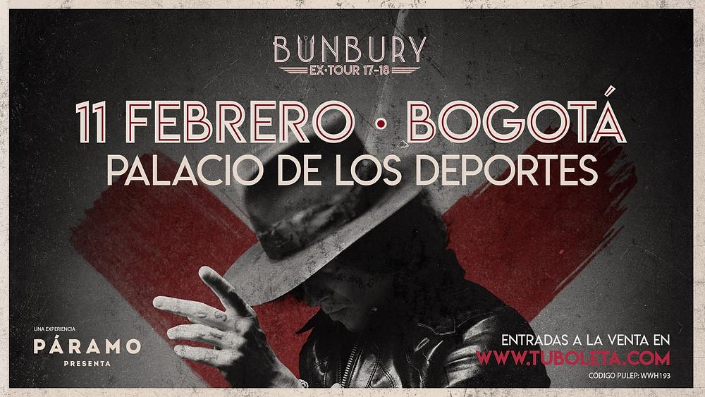 Enrique Bunbury en Colombia 2018