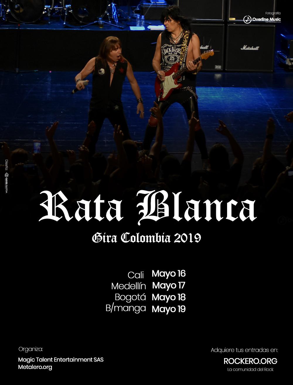 Rata Blanca en Colombia 2018