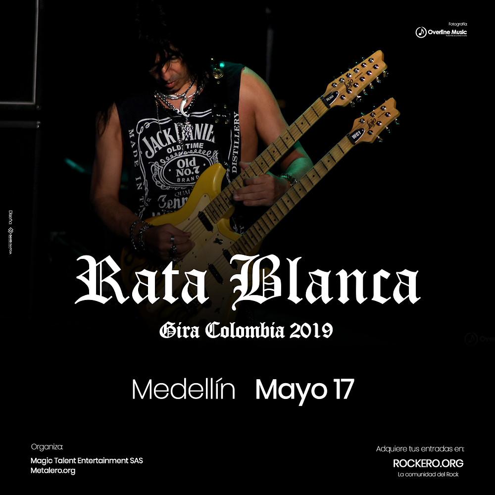 Rata Blanca en Medellín, Colombia 2019
