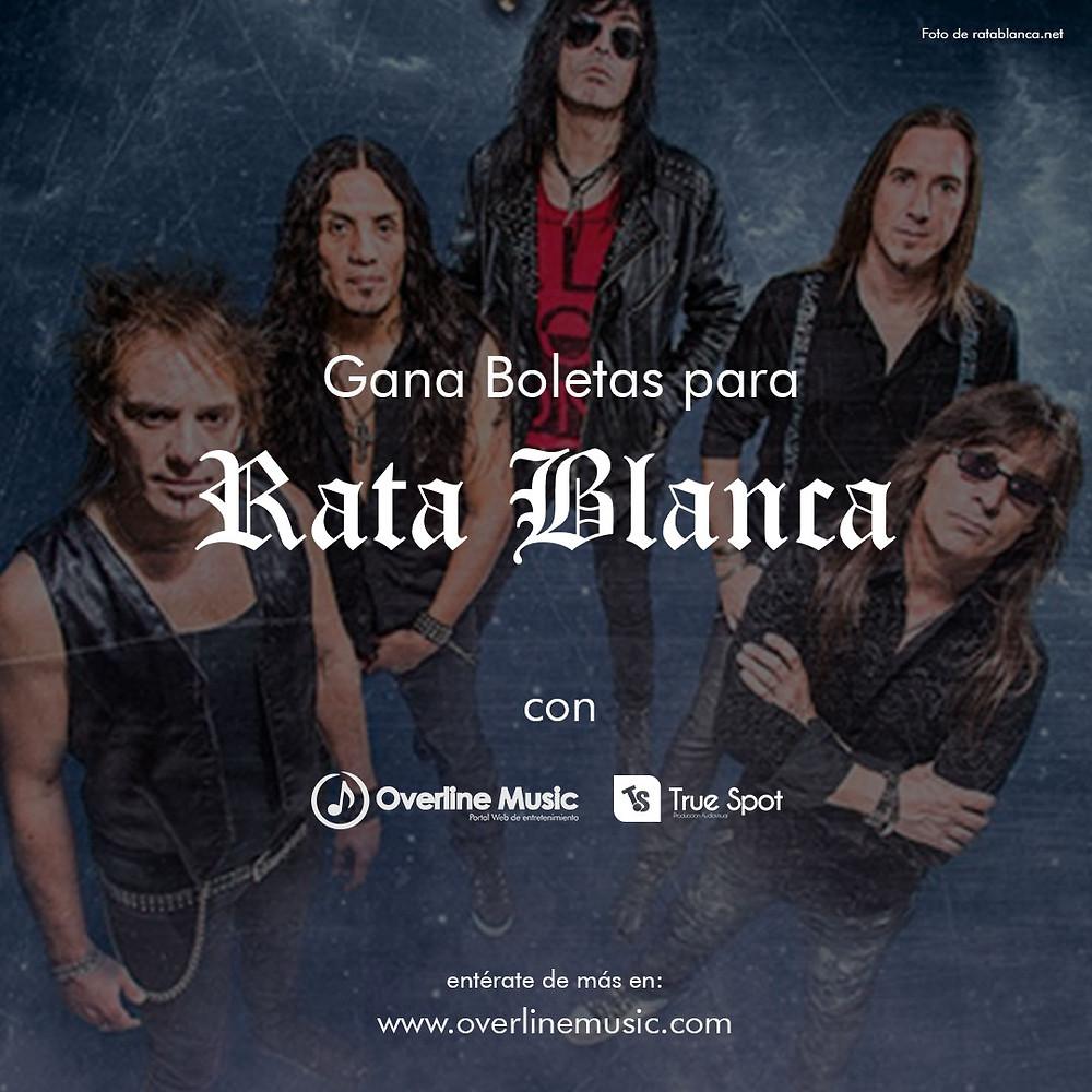 Gana boletas para Rata Blanca Cali 2018