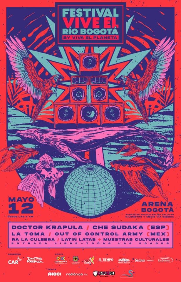 Festival Vive el Río Bogotá, Colombia 2019