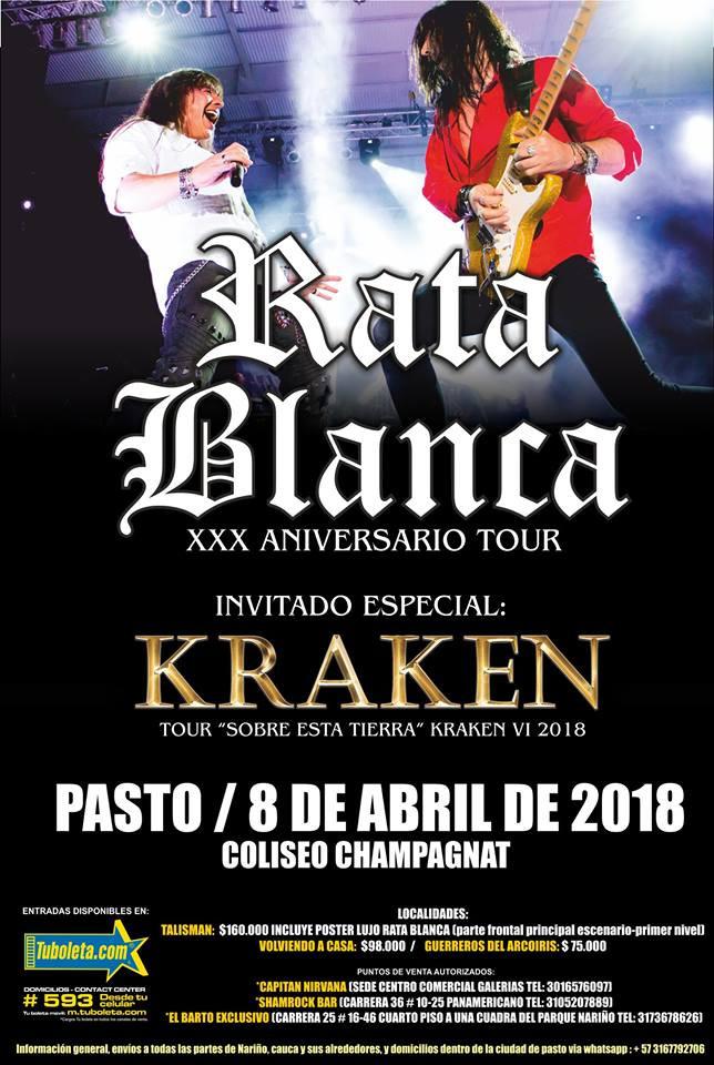 Rata Blanca en Pasto 2018