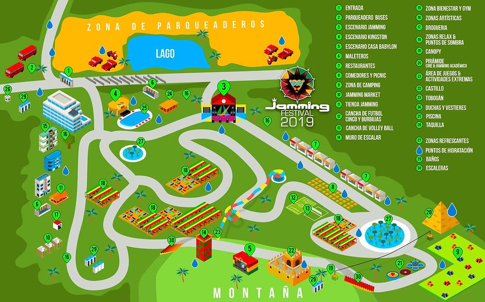 Mapa Jamming Festival 2019