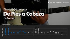 Cómo tocar De Pies a Cabeza de Maná en Guitarra [Tutorial Overline Music]