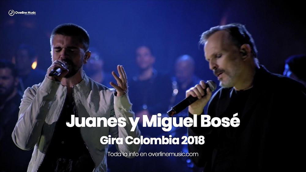 Juanes y Bosé en Colombia 2018