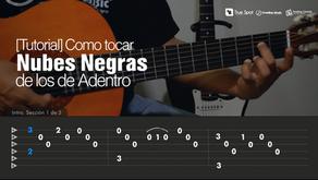 """Como tocar """"Nubes Negras"""" de Los de Adentro en Guitarra [Tutorial Feeling Chords]"""