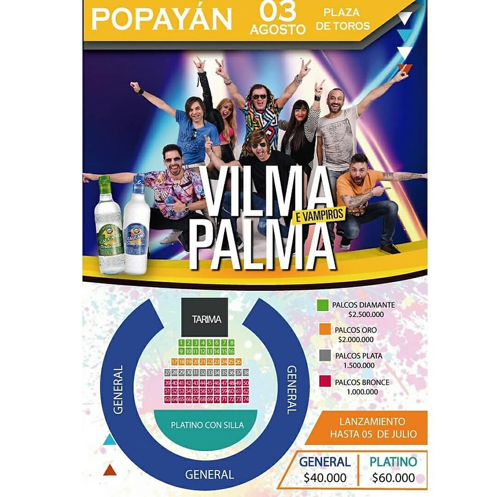 Vilma Palma popayán 2018