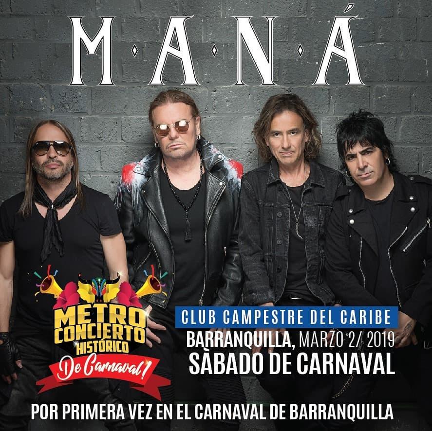 Maná en Barranquilla, Colombia 2018