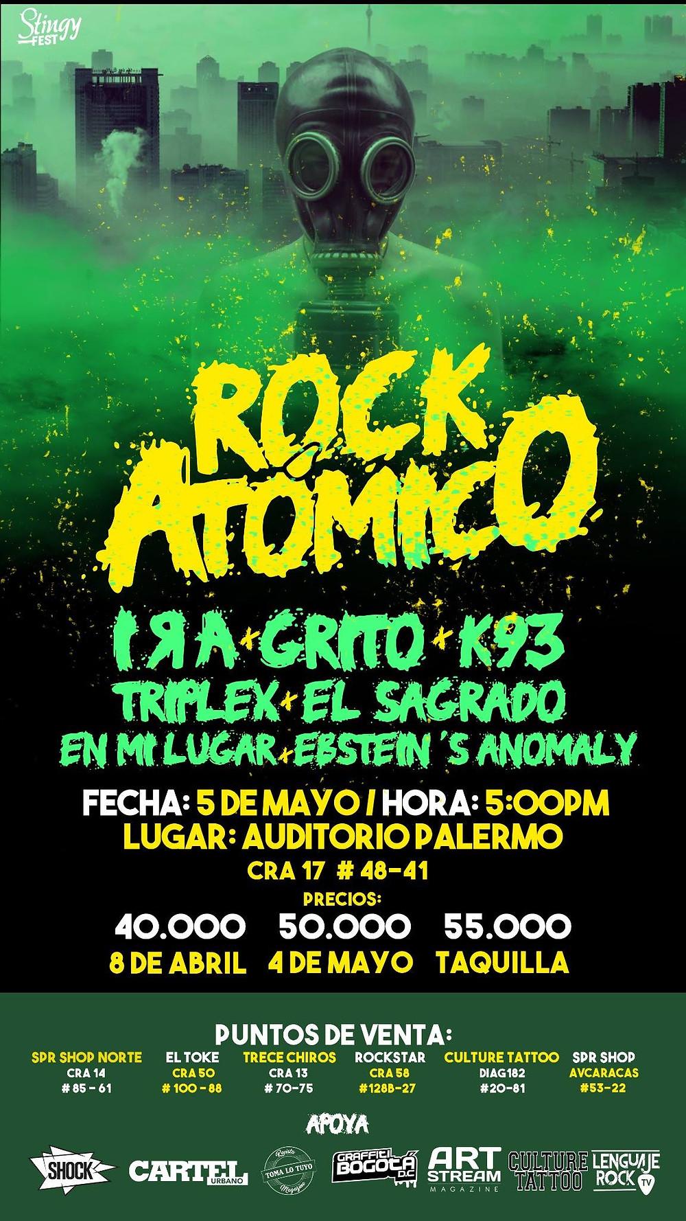 Rock Atómico 2018 Bogotá
