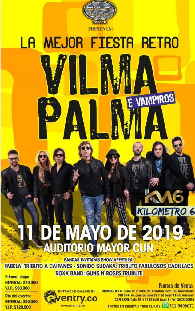 Vilma Palma en Cali, Colombia 2019