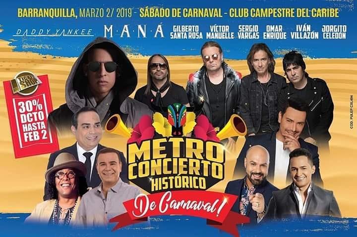 Maná en Metro Concierto Barranquilla