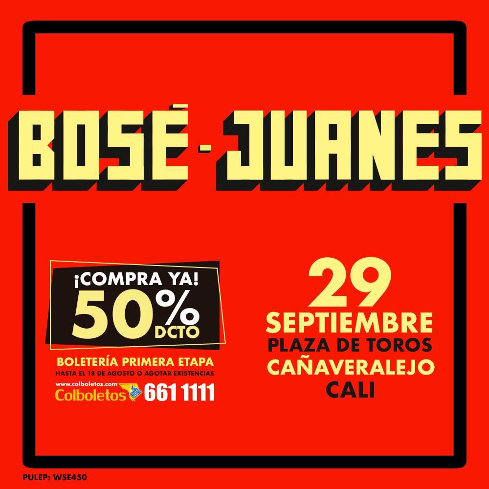 Boletas Juanes cali 2018