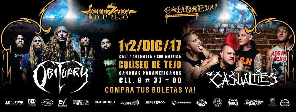 Obituary - The Casualties en Cali